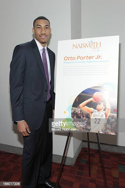 Otto Porter Jr of the Georgetown Hoyas attends the NABC Guardians of the Game Awarding of the Naismith Trophy Presented by ATT at Georgia World...