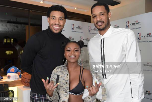 Otto Porter JrNadia RoseTrevor Ariza attend the Tissot party celebrating their partnership with the NBA as the official timekeeper of the games on...