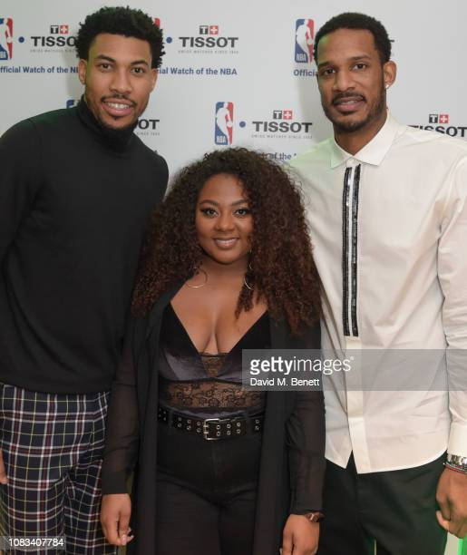 Otto Porter JrPaisley BillingsTrevor Ariza attend the Tissot party celebrating their partnership with the NBA as the official timekeeper of the games...
