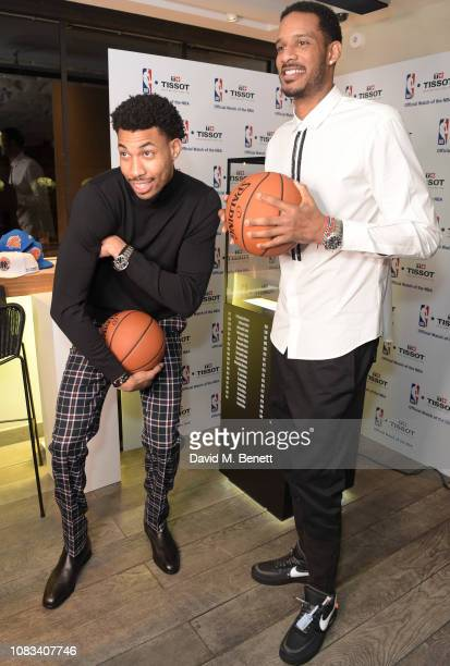 Otto Porter JrTrevor Ariza attend the Tissot party celebrating their partnership with the NBA as the official timekeeper of the games on January 16...