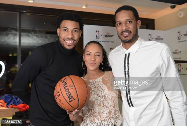 Otto Porter JrYasmin EvansTrevor Ariza attend the Tissot party celebrating their partnership with the NBA as the official timekeeper of the games on...