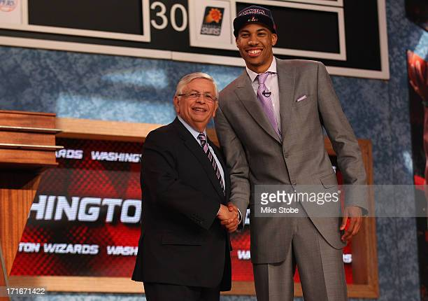 Otto Porter of Georgetown poses for a photo with NBA Commissioner David Stern after Porter was drafted overall in the first round by the Washington...