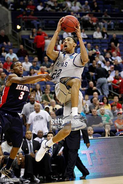 Otto Porter of the Georgetown Hoyas shoots against Kerron Johnson of the Belmont Bruins in the second half during the second round of the 2012 NCAA...