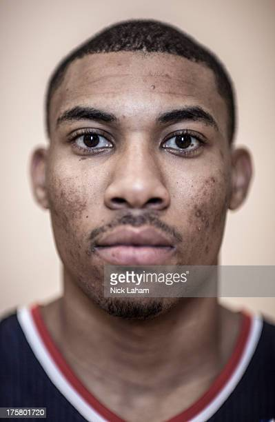 Otto Porter of the Washington Wizards poses for a portrait during the 2013 NBA rookie photo shoot at the MSG Training Center on August 6 2013 in...