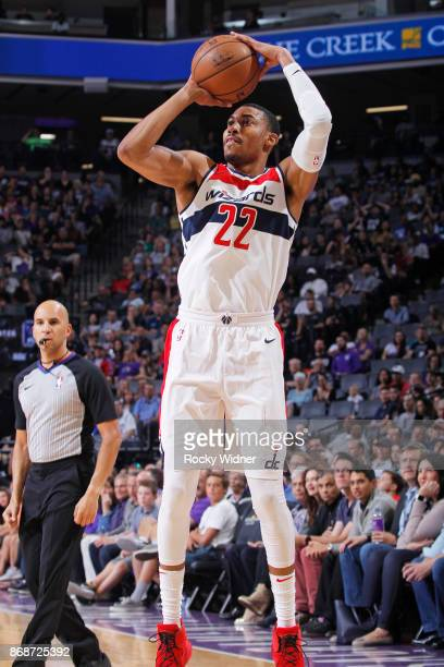 Otto Porter of the Washington Wizards shoots against the Sacramento Kings on October 29 2017 at Golden 1 Center in Sacramento California NOTE TO USER...