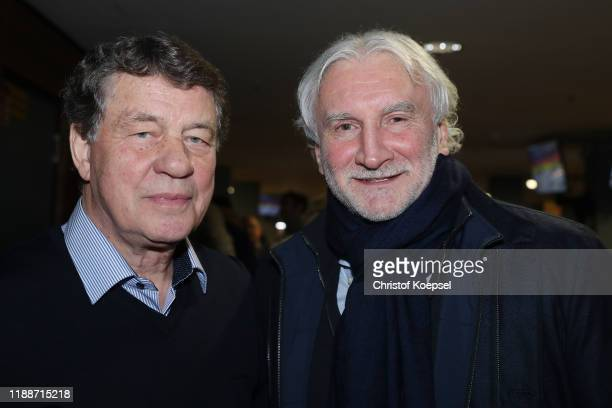 Otto Rehagel and Rudi Voeller attend the Club Of Former National Players Meeting at Commerzbank Arena on November 19 2019 in Frankfurt am Main Germany