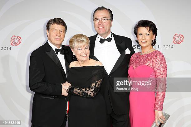 Otto Rehagel, Beate Rehagel, Clemens Toennies and Margit Toennies attend the Rosenball 2014 on May 31, 2014 in Berlin, Germany.