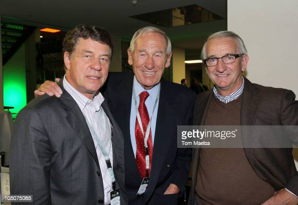 Otto Rehagel Bert Trautmann and Hannes Loehr attend the Club Meeting Of Former Players Of The Germany National Team on October 8 2010 in Berlin...