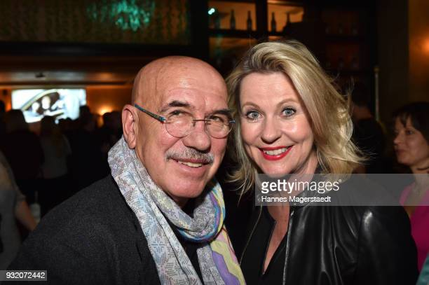Otto Retzer and Anja Schuete during the NdF after work press cocktail at Parkcafe on March 14 2018 in Munich Germany