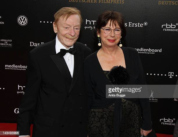 Otto Sander and Monika 2012 Red Carpet at FriedrichstadtPalast on April 27 2012 in Berlin Germany