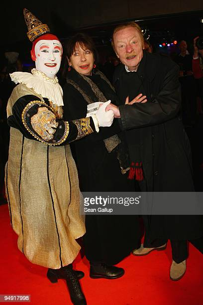 Otto Sander and Monika Hansen attend the Roncalli Christmas Circus at Tempodrom on December 19 2009 in Berlin Germany