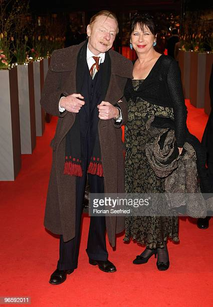 Otto Sander and wife Monika Hansen attend the 'Tuan Yuan' Premiere during day one of the 60th Berlin International Film Festival at the Berlinale...