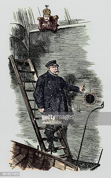 Otto von Bismarck German politician Bismarck resigns Caricature 'Dropping the Pilot' by John Tenniel published in Punch March 29 1890