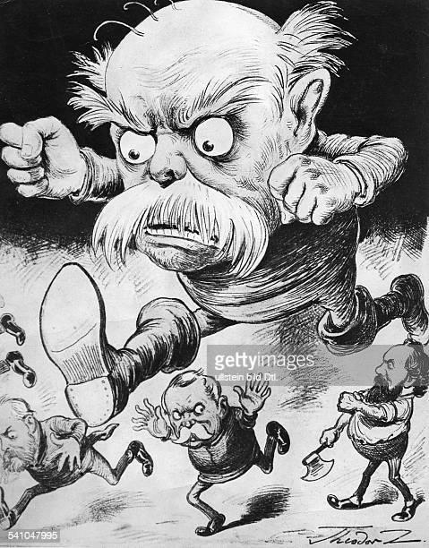 Otto von Bismarck German politicianCaricature 'Bismarck is coming' published in 'Der Floh' May 1891