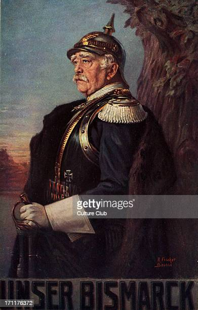 Otto von Bismark wearing Prussian military uniform Prussian Politician 18151898 Became leader of Germany after unification
