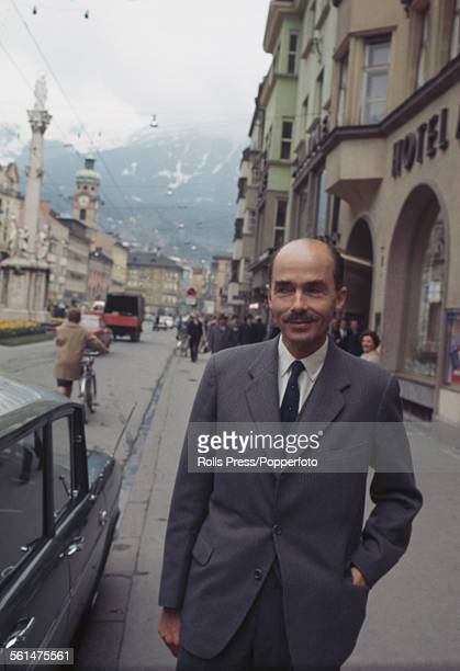 Otto von Habsburg , last Crown Prince of Austria-Hungary and Archduke of Austria, pictured standing on a street in Innsbruck, Austria on 28th April...
