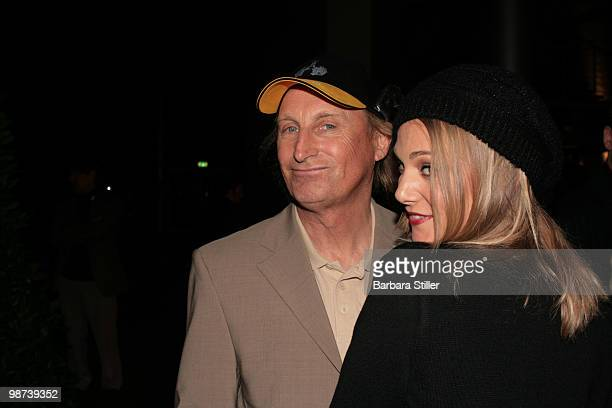 Otto Waalkes and Eva Hassmann attend the Comedy Award 2008 at the Coloneum in Cologne on October 21.