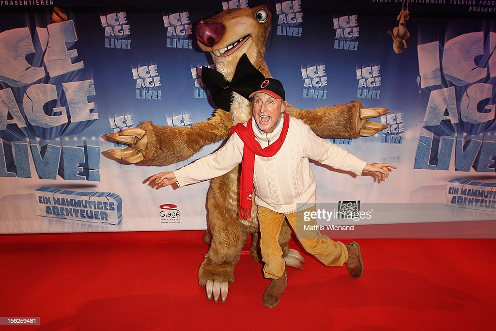 Otto Waalkes attends the Ice Age Live! gala premiere at ISS Dome on November 12, 2012 in Duesseldorf, Germany.