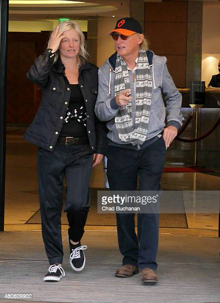 Otto Waalkes sighted departing the Hotel Palace Berlin on July 15 2015 in Berlin Germany
