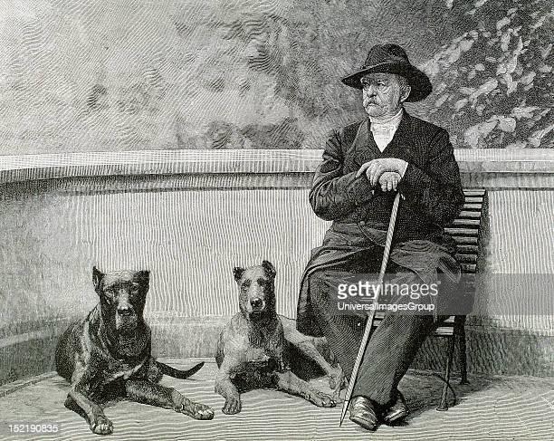 BISMARCK OttoLeopold Prince of German statesman Bismarck in Friedrichruhe Engraving