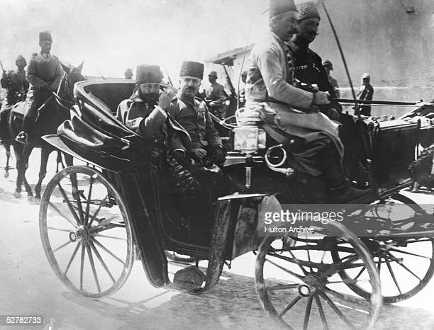 Ottoman governor of Syria Jamal Pasha riding through the streets of Damascus in a carriage 17th July 1917