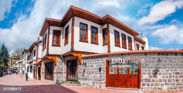 ottoman house at hamamonu streets - ankara turkey stock pictures, royalty-free photos & images