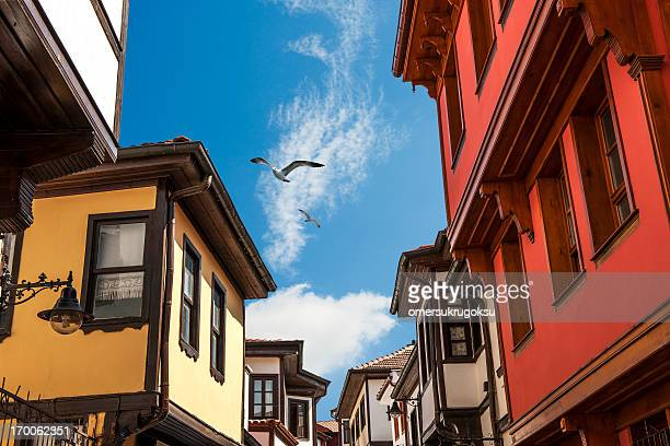 ottoman houses - eskisehir stock pictures, royalty-free photos & images