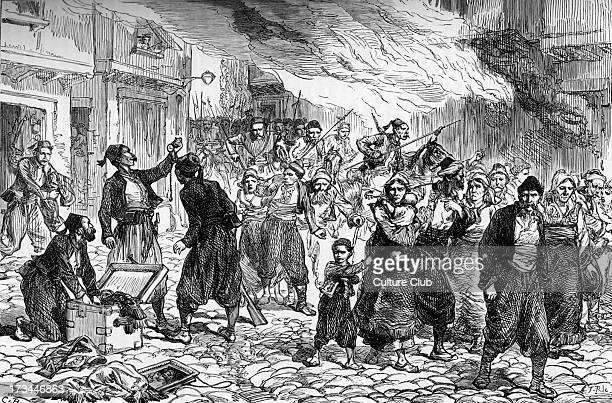 Ottoman massacre of Bulgarian town of Batak in 1876 Beginning of April Uprising Attacked due to declaration of independence from Ottoman Empire