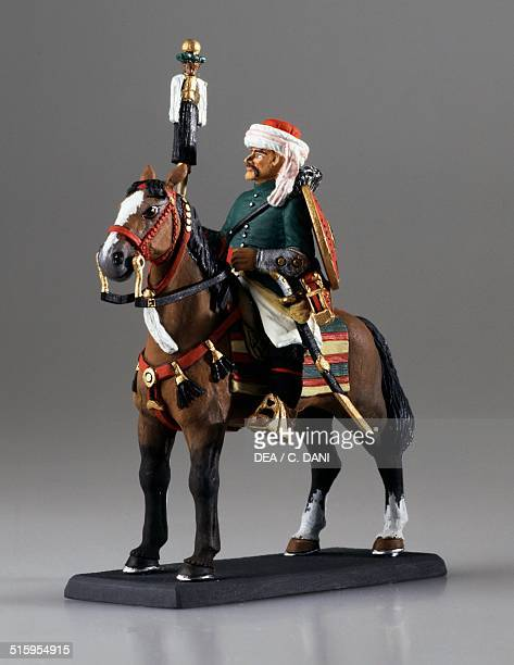 Ottoman officer toy soldier on horseback Ottoman Empire 18th century