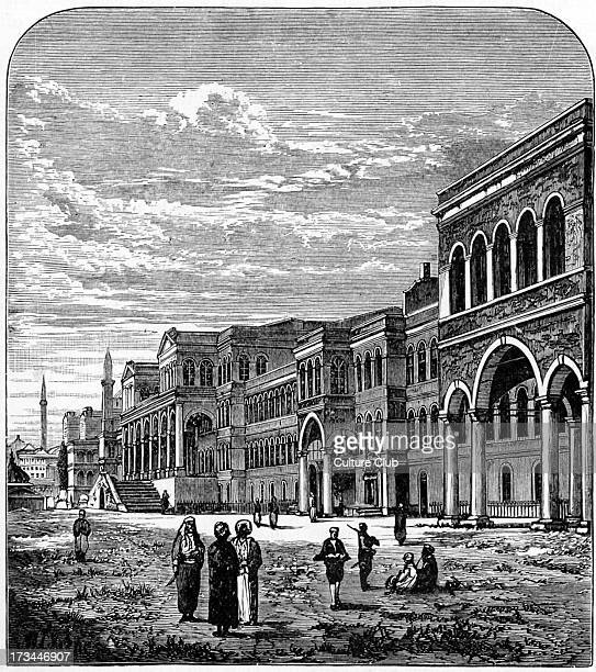 Ottoman Porte Istanbul 1876 Name for central government of the Ottoman Empire referencing High Gate of the Divan of the Topkapi Palace in Istanbul...