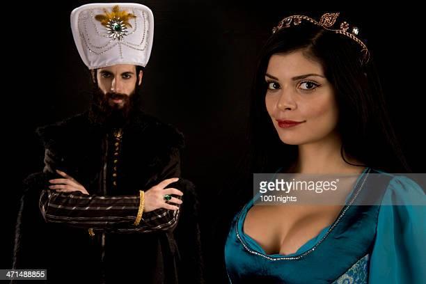 otomana sultan y la princesa - ottoman empire fotografías e imágenes de stock