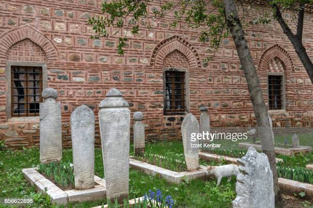 Ottoman tombs at Muradiye Mosque complex, Bursa, Turkey