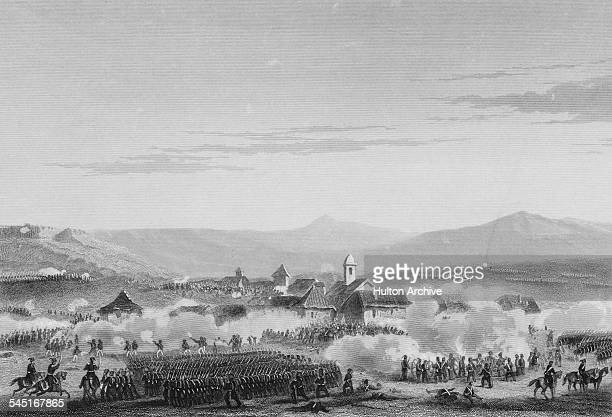 Ottoman Turkish troops attack the Russian forces at the Battle of Citate on 6 January 1854 during the Danube Campaign of the Crimean War in Citate...
