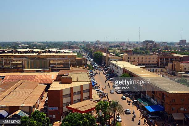 ouagadougou, burkina faso: city center skyline - burkina faso stock pictures, royalty-free photos & images