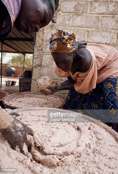 Women from a cooperative prepare 02 March 2007 shea butter in a neighborhood of Ouagadougou As cosmetics containing shea butter pop up on more and...