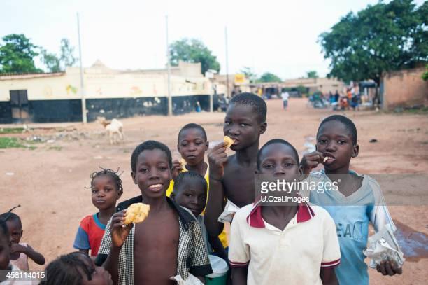 ouagadougou children - burkina faso stock pictures, royalty-free photos & images