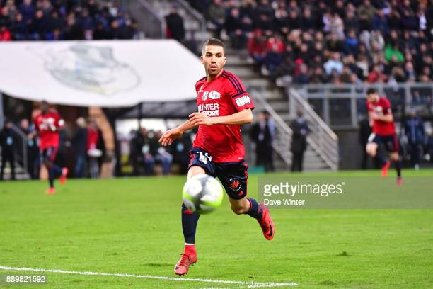 Oualid El Hajjam of Amiens during the Ligue 1 match between Amiens SC and Olympique Lyonnais at Stade de la Licorne on December 10 2017 in Amiens...