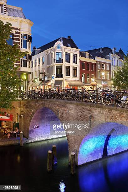 oude gracht and bakkerbrug - utrecht stock pictures, royalty-free photos & images