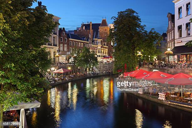 oude gracht in utrecht - utrecht stock pictures, royalty-free photos & images