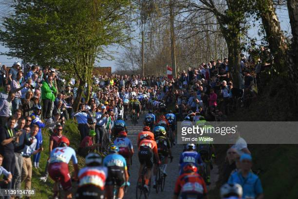 Oude Kwaremont / Fans / Public / Peloton / Landscape / Cobblestones / during the 62nd E3 Harelbeke 2019 a 203,9km race from Harelbeke to Harelbeke /...