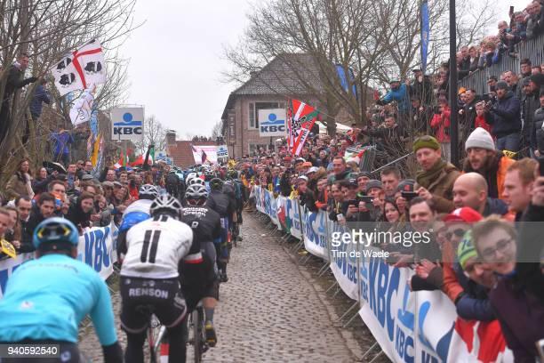 Oude Kwaremont / Peloton / Fans / Public / during the 102nd Tour of Flanders 2018 - Ronde Van Vlaanderen a 264,7km race from Antwerpen to Oudenaarde...