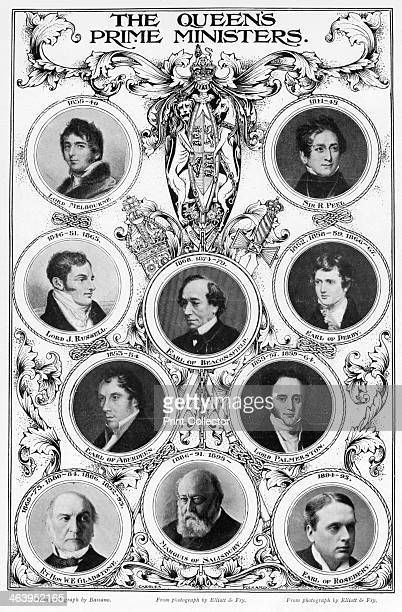 Oueen Victoria's prime ministers 1901 Lord Melbourne Sir Robert Peel Lord John Russell Benjamin Disraeli the Earl of Derby the Earl of Aberdeen Lord...