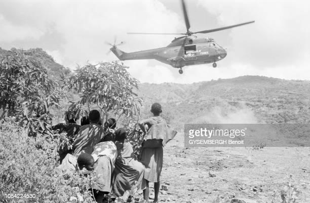 Ouganda août 1980 Face à la catastrophe humanitaire en cours dans la province du Karamoja où sévit une famine causée par la sècheresse et les...