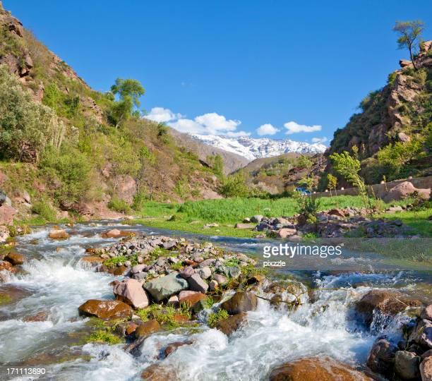 Ouirgane neige Altas montagnes Maroc et en Afrique