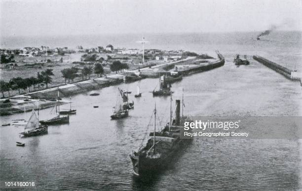 Ouistreham Normandy the harbour entrance Plate 44 from ISIS Report on France Vol 2 Normandy West of the Seine Part VIII Photographs of Part V Ports...