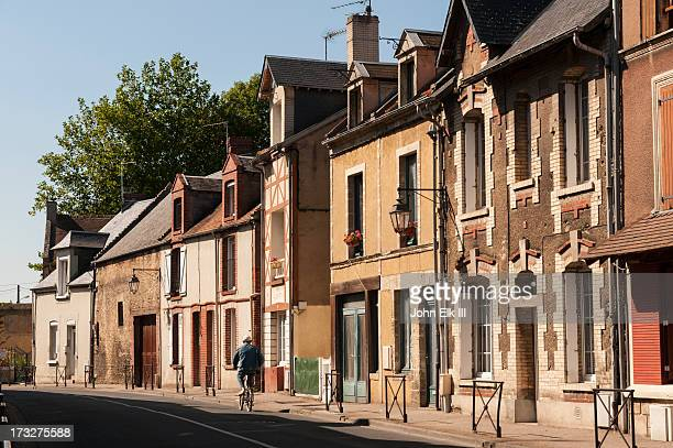 ouistreham row houses - ouistreham stock pictures, royalty-free photos & images