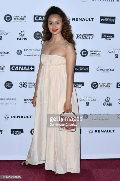 Oulaya Amamra attends the 25th Lumieres De La Presse Internationale Ceremony on January 27 2020 in Paris France
