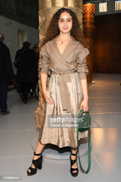 Oulaya Amamra attends the Chloe show as part of the Paris Fashion Week Womenswear Fall/Winter 2020/2021 on February 27 2020 in Paris France