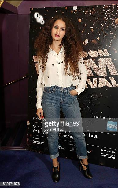 Oulaya Amamra attends the 'Divines' screening during the 60th BFI London Film Festival at Haymarket Cinema on October 6 2016 in London England