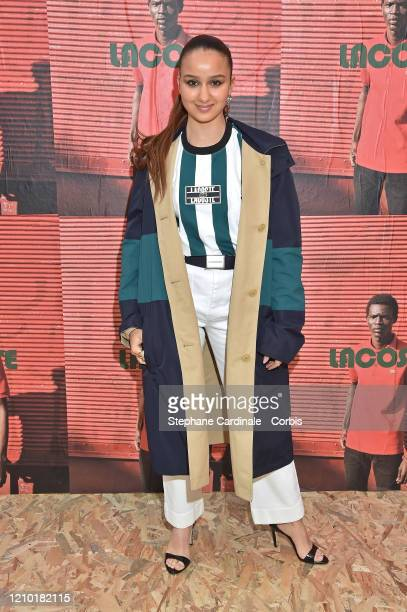 Oulaya Amamra attends the Lacoste show as part of the Paris Fashion Week Womenswear Fall/Winter 2020/2021 on March 03 2020 in Paris France
